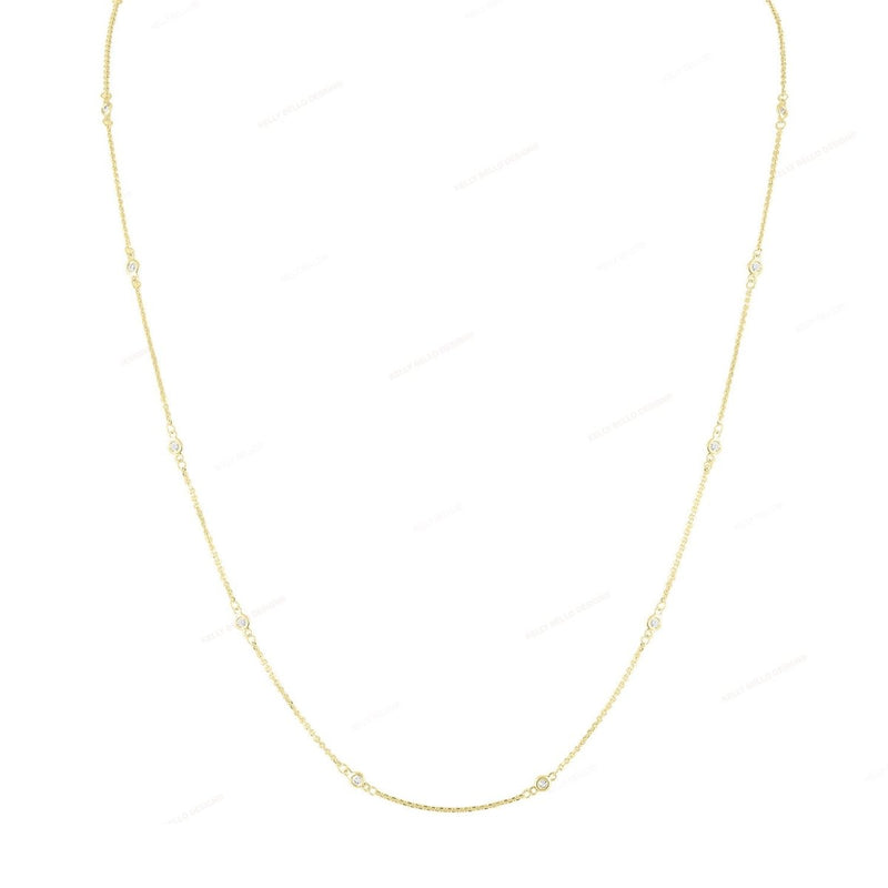 Mini Diamond By The Yard Necklace - Kelly Bello Design