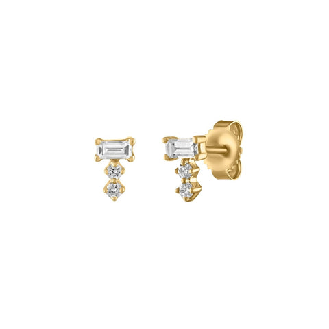 Mini Chunky Diamond Studs