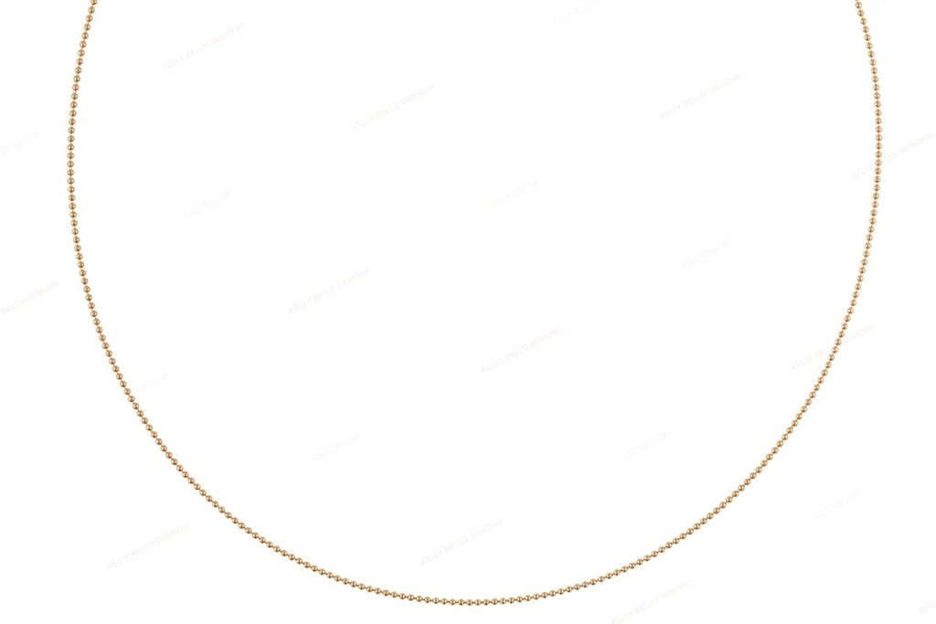 Mini Gold Bead Necklace - Kelly Bello Design