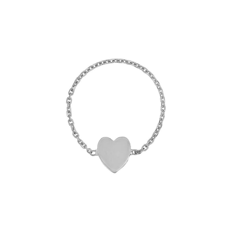 Mini Heart Chain Ring - Kelly Bello Design