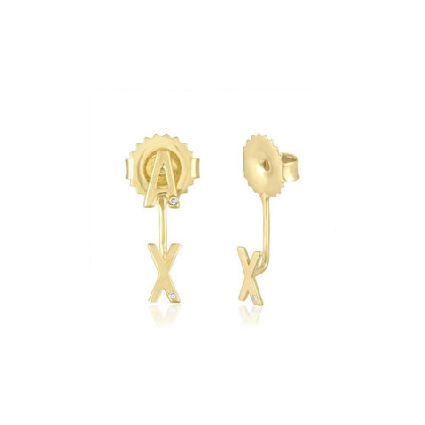 Diamond Cross Piercing Earring