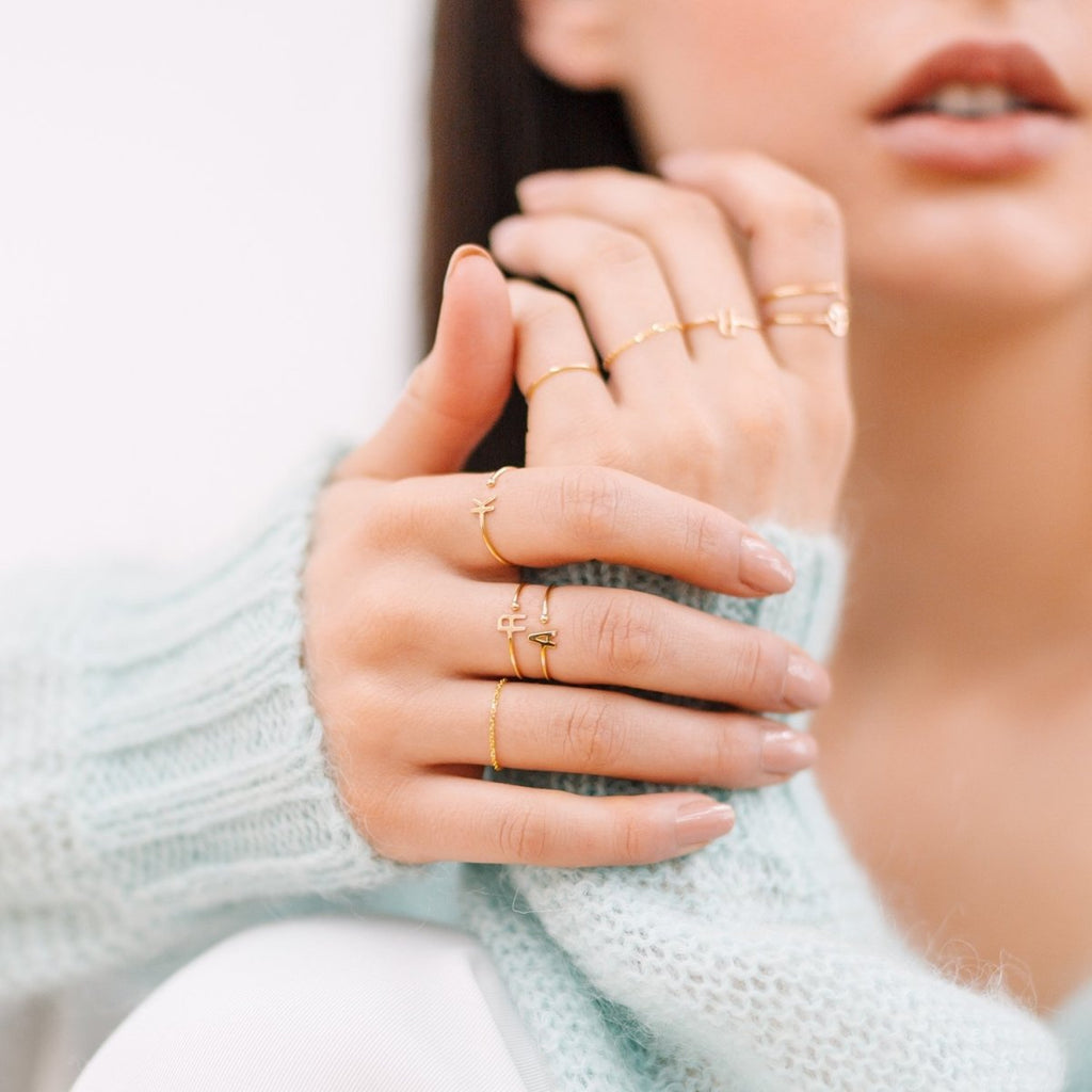 Mini Letter Ring - Kelly Bello Design