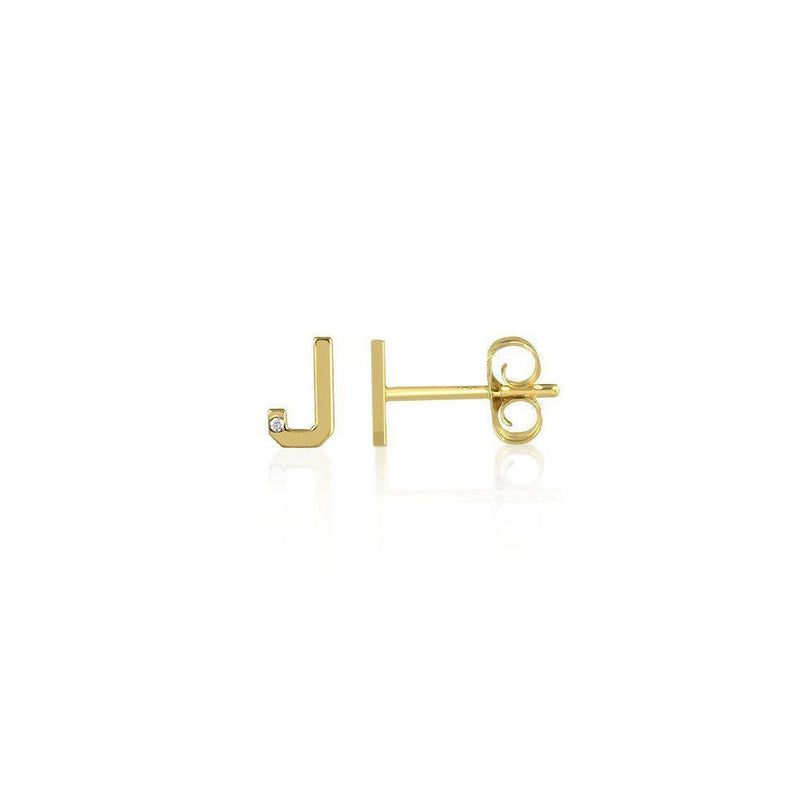 Mini Letter Stud Earrings - Kelly Bello Design