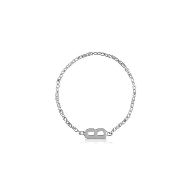 Mini Mini Letter Chain Ring - Kelly Bello Design