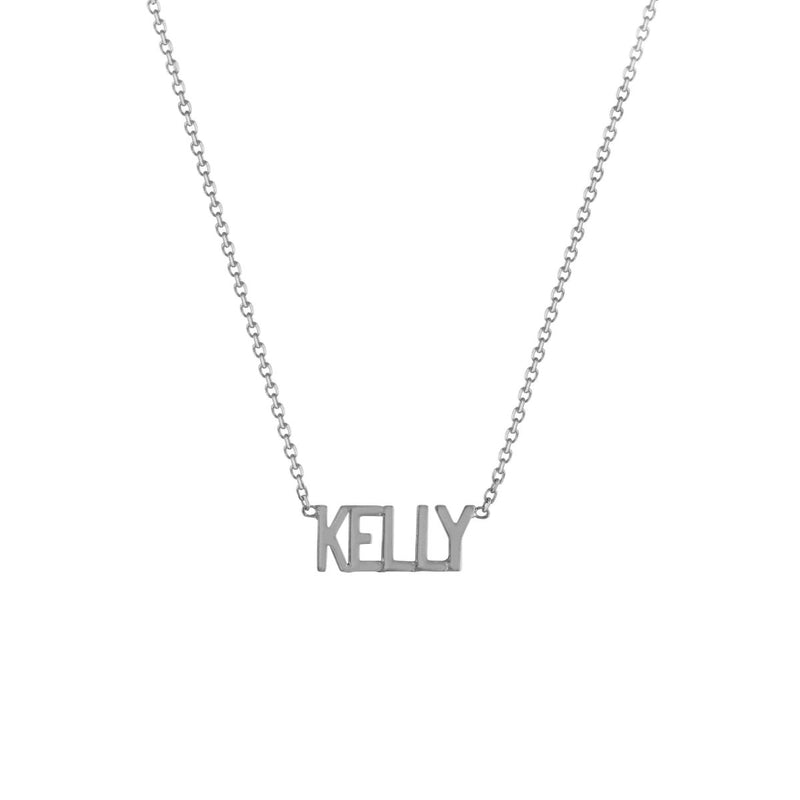 Mini Mini Nameplate Necklace (custom) - Kelly Bello Design