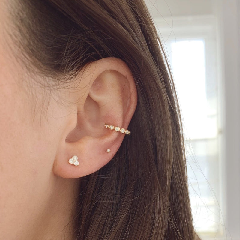 Mini Triple Diamond Studs - Kelly Bello Design