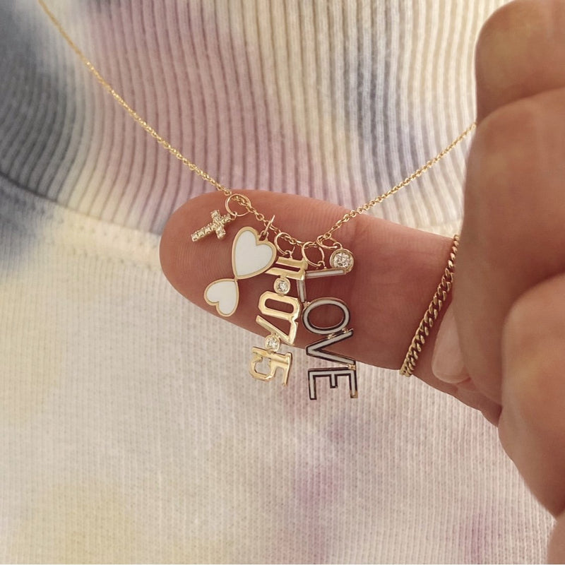 Mommy + Me Enamel Necklace Charm - Kelly Bello Design