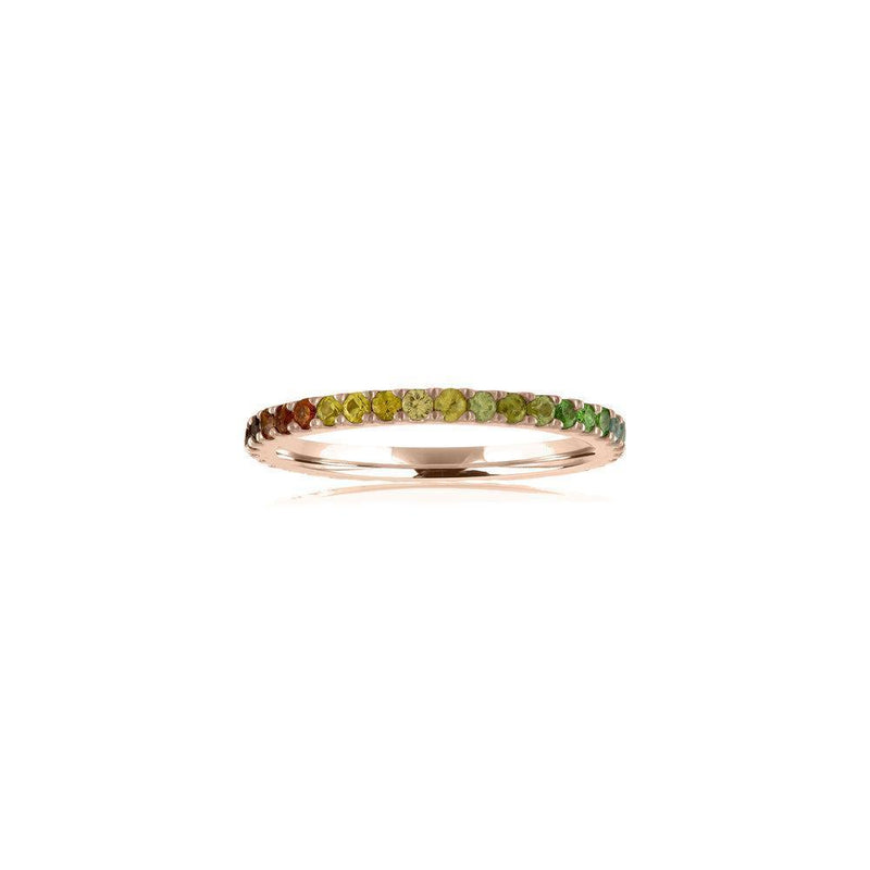 Ombre Rainbow Eternity Band - Kelly Bello Design