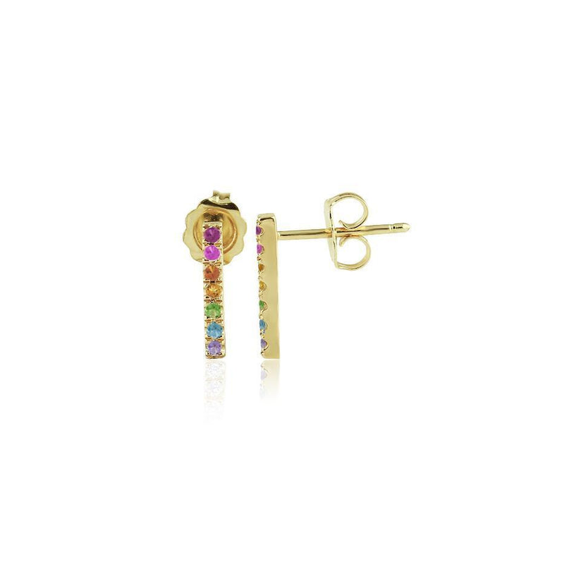 Rainbow Bar Earrings - Kelly Bello Design