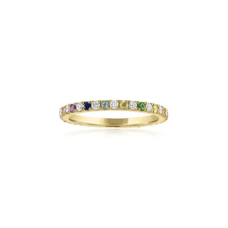 Rainbow & Diamond Eternity Band - Kelly Bello Design