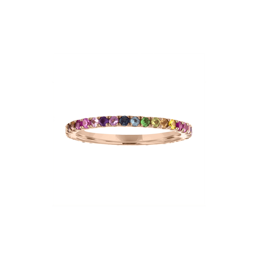 Rainbow Eternity Band - Kelly Bello Design