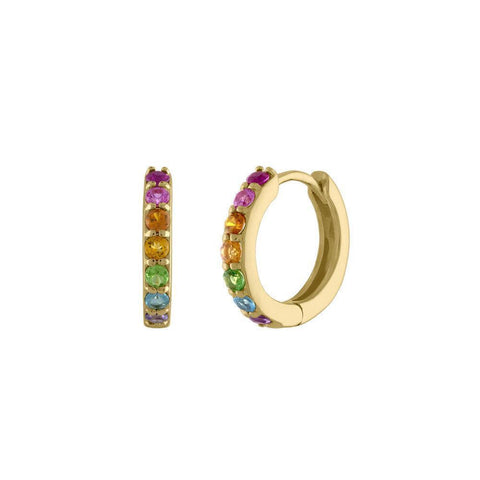 Double Row Rainbow Ear Cuff