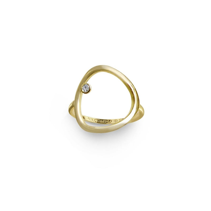 Rounded Triangle Ring Redefined - Kelly Bello Design