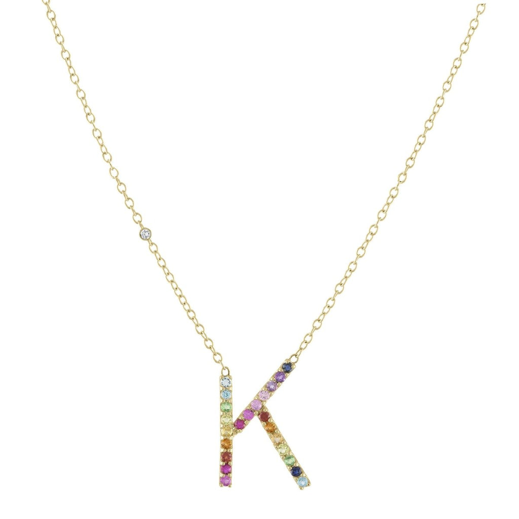 Signature Letter Necklace - Kelly Bello Design