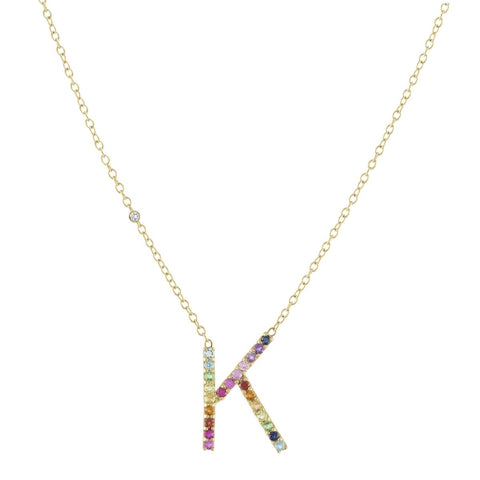 Enamel Letter Necklace (custom)