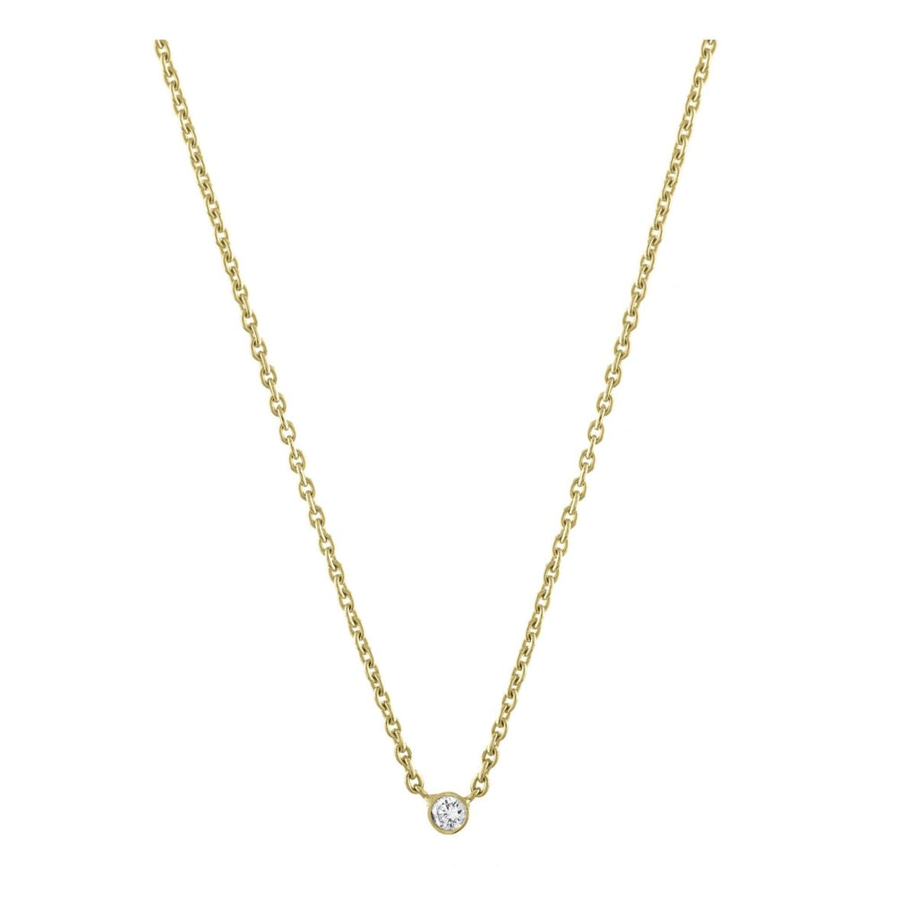 Solitaire Diamond Necklace - Kelly Bello Design