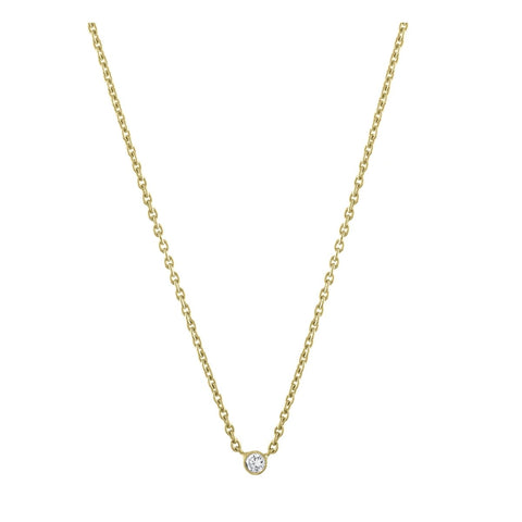 Mini Heart & Diamond Bezels Necklace