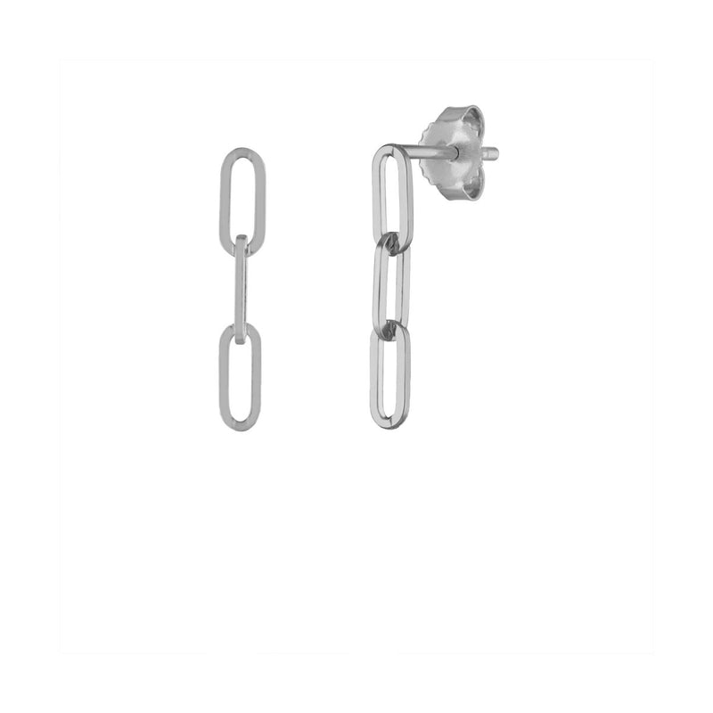 Thin Long Link Earring - Kelly Bello Design