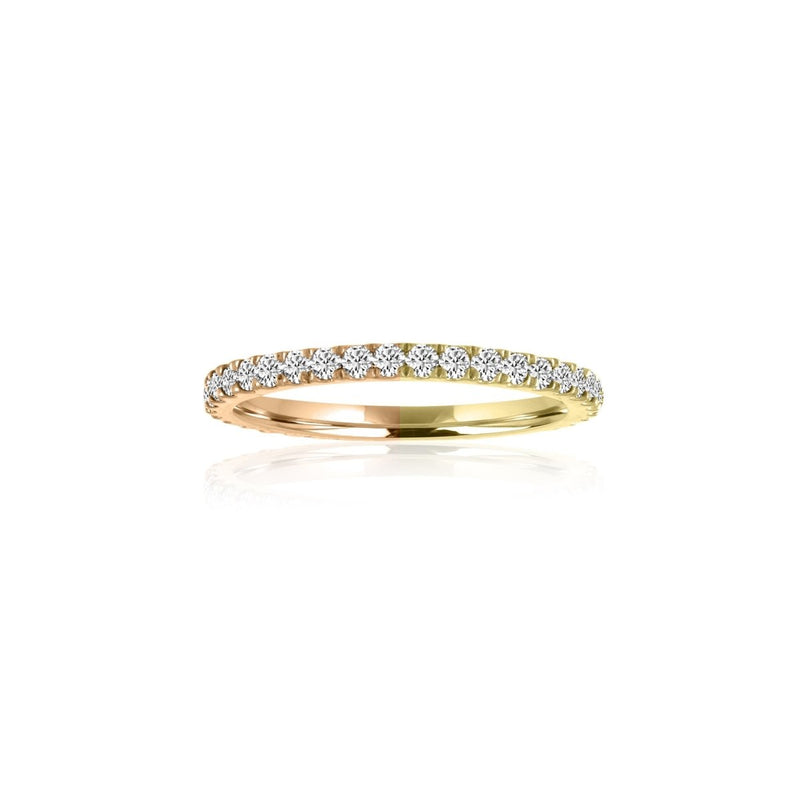 Two Tone Diamond Eternity Band - Kelly Bello Design
