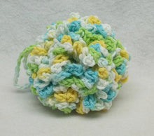 Blue/green Spa bath set,bath puff,eye make up remover pads,facecloths,shower puff,crochet facecloths,eye pads,blue,green,yellow,white