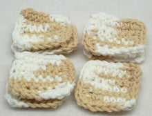 Beige square crochet make up remover pads,square crochet face scrubbies,beige crochet make up remover pads,beige face scrubbies