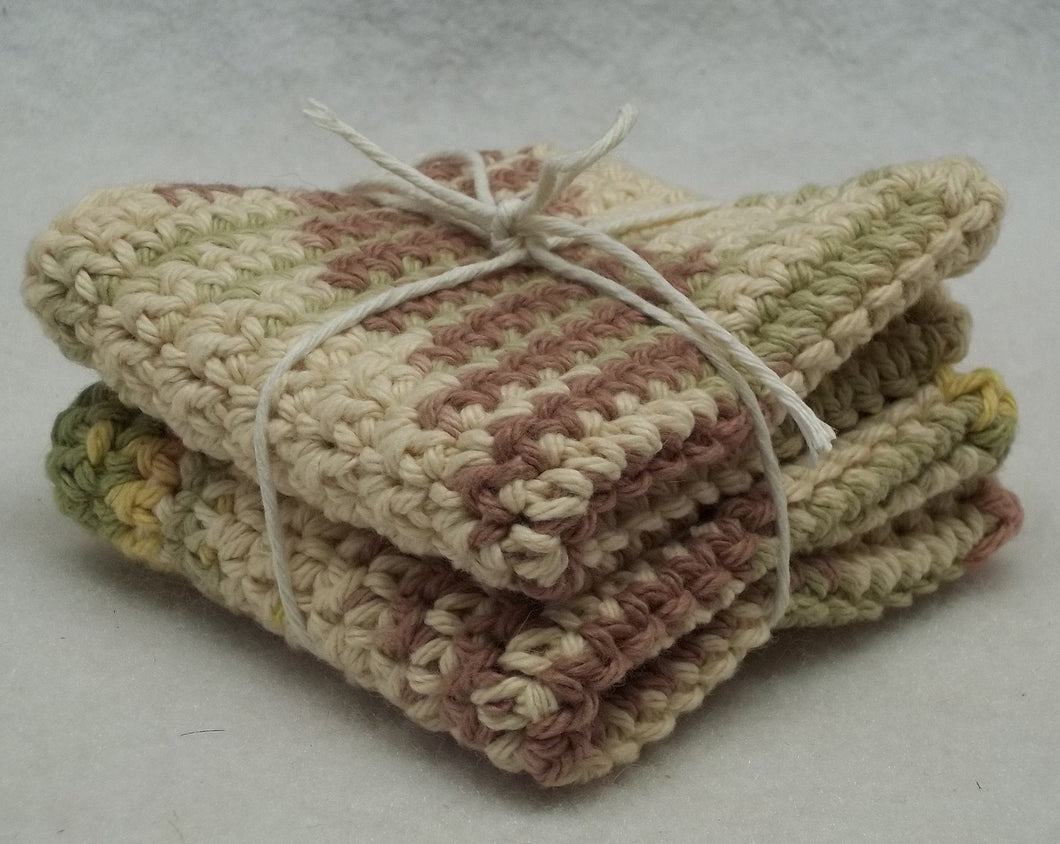 Crocheted beige cotton facecloth,crocheted washcloth,crocheted dishcloth,eco friendly washcloth,crochet cotton washcloth,crochet facecloth