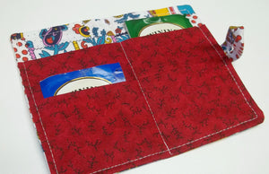 Upcycled red,blue tea wallet,red,blue cotton teawallet,red,blue striped tea wallet,cotton tea wallet,eco friendly gift,tea,condom wallet,