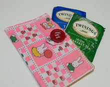 pink cotton tea wallets,rabbit/cat/foxe design tea wallet,eco friendly,pink tea wallet,tea/condom wallet,tea bag caddy,tea bag travel case