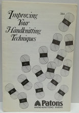 Vintage Improving your hand knitting techniques Patons help book
