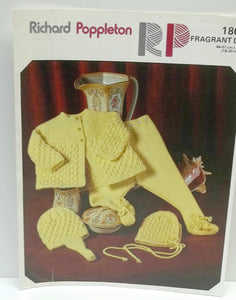 vintage knitting pattern,Baby legging knitting pattern,baby coat/bonnet/helmet knitting pattern by Richard Poppleton,no 1864,baby clothes