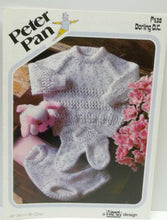 vintage baby diaper pant, raglan sweater, socks pattern book Peter Pan Wendy design
