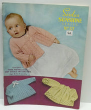vintage baby matinée coats knitting patterns age birth to 6 months Sirdar Sunshine series no 57