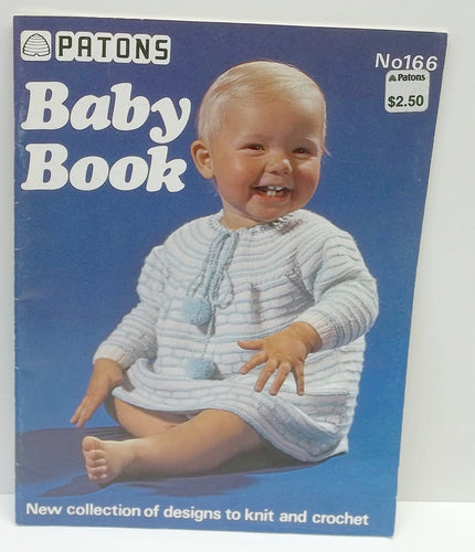 vintage baby pattern book,vintage Patons Baby knitting Book,Patons pattern book no 166,52 pages,baby knitting patterns,baby book,