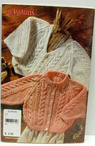 vintage knitting pattern by Patons Sweets for the sweet no 67,sweaters for babies,young girls and boys,