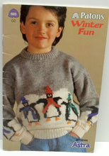 sweater for young boys and girls knitting patterns by Patons Winter Fun no 693
