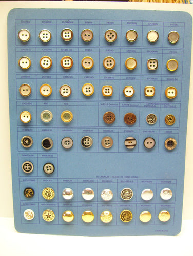 Vintage button card,button card, buttons,gold buttons,silver buttons,black buttons,brown,coconut buttons,metal buttons,2-4 hole button