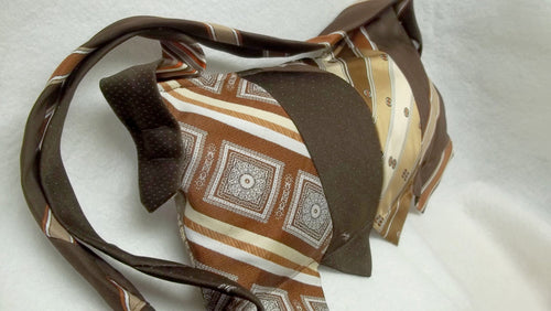 Upcycled brown Silk tie purse,brown silk tie purse,brown tie purses,silk ties,silk tie purse,tie purse,brown ties,brown silk ties,brown