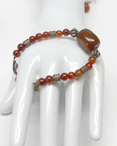carnelian bracelet and earring set,carnelian beads,carnelians,carnelian earring,carnelian bracelet,bracelet,earrings,women,teens,prom,
