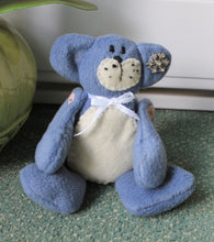 Blue fleece beanie teddy,plush beanie teddy,room decoration,blue beanie teddy bear,blue teddy bear, blue teddy,boy room decoration,