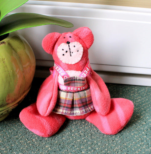 Pink beanie teddie bear,room decoration,pink beanie teddy bear,pink teddy bear, pink teddy,eco friendly,pink bear,bear,pink,