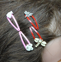 2 baby red-pink snap hair clips,dragonflies-bear-dog- snap hair clips,baby snap hair lips,hair accessories,