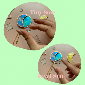 Stained glass moon charm workshop