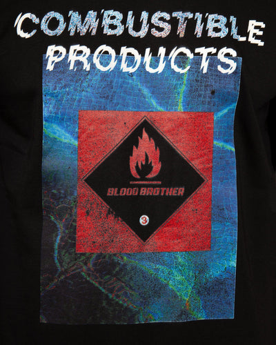 Combustible T-shirt in Black - Blood Brother