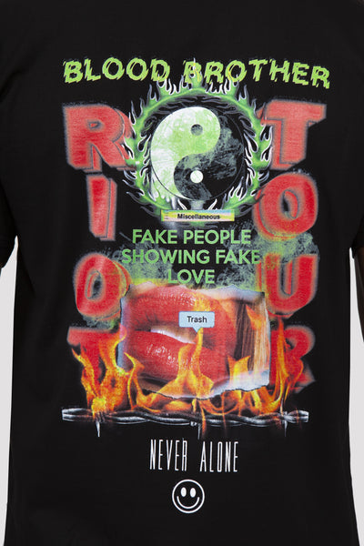 Riot Tour T-Shirt in Black