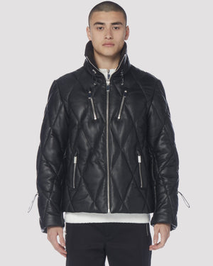 Chester Leather Jacket Black