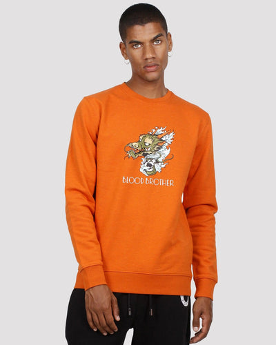 Masatoshi Printed Sweatshirt in Orange