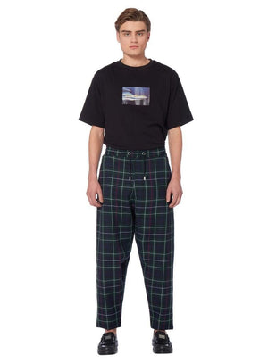 Matter Trousers In Black