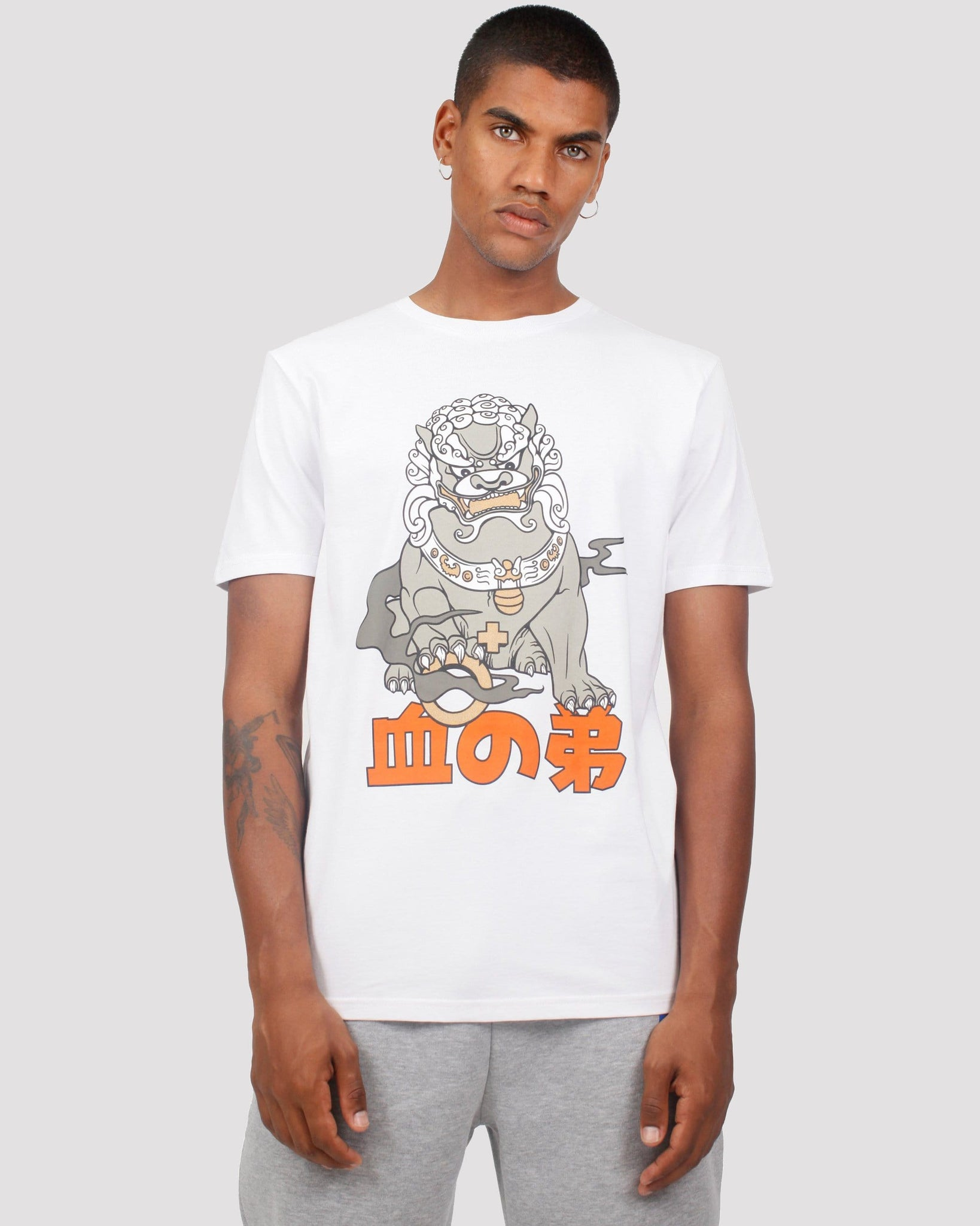 Onigawara Printed T-Shirt in White
