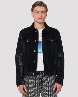 Turbo Leather Jacket In Black