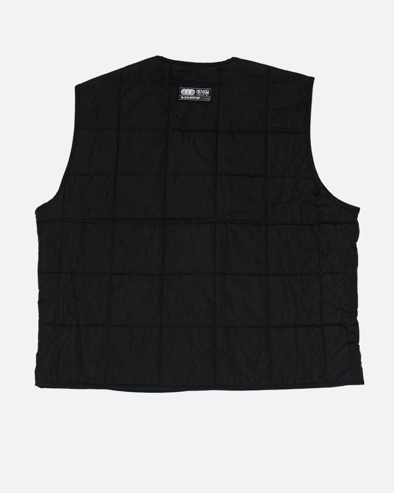 Warren Quilted Gilet -  Black